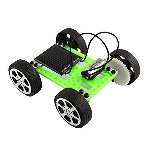 RIsxffp DIY Bebés y Primera infancia Ensamblaje Panel Solar Energía Mini Automóvil Vehículo Racer Modelo Kids Educación…