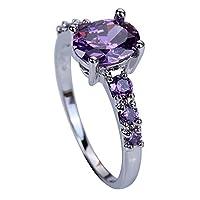 YAZILIND boda nupcial púrpura cubic zirconia anillo de compromiso para las mujeres Size6