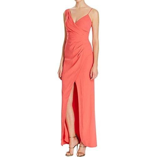 Nicole Miller Womens Crepe Wrap Evening Dress Pink 4