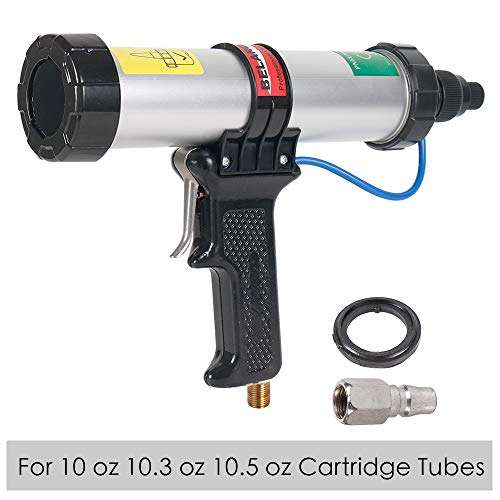 Air Power Caulk Gun 10 oz/310 ml Professional Caulking Gun Cartridge Heavy Duty Pneumatic Applicator -
