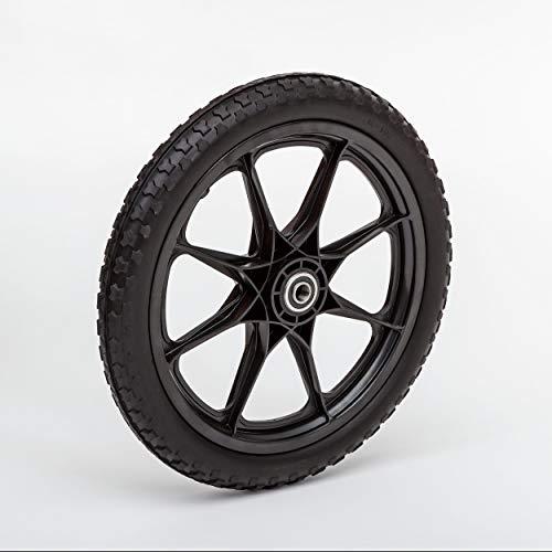 Lapp Wheels Flat Free Plastic Spoke Wheel, Lawnmower/Garden cart/Pony Wagon Replacement, Diameter/Tread/Hub/Bearing Options ()