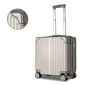 IRVING Mini Boarding Portable Light Trolley Case,18 Inches (Color : Metallic)