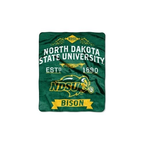 NCAA North Dakota State Bison Label Plush Raschel Throw Blanket, 50