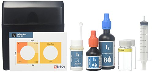 Red Sea Fish Pharm ARE21430 Saltwater Iodine Pro Test Kit for Aquarium, 50 Tests