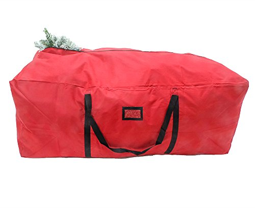 "POLR Super Large Christmas Tree Storage Duffel Bag, with Premium Quality Stitching, Rip-Stop Design for rugged Durability, Fits up to 9ft Artificial Trees, 59""x27""x24"""
