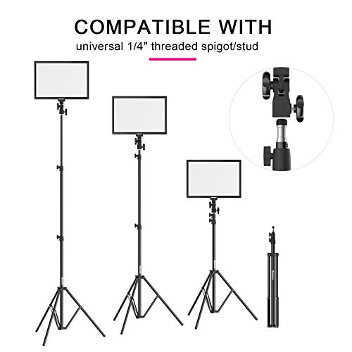 Bi-Color LED Video Light Stand Lighting Kit 2 Pack 15.4'' Large Panel 3000K-5800K 45W 4800LM Dimmable 1-100% Brightness Soft Light for YouTube Game Video Shooting Live Stream Photography Lighting by Dazzne (Image #6)