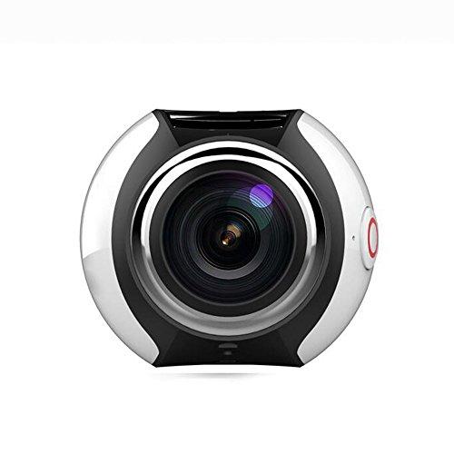 YWNC Cámara De Buceo Mini Portátil Al Aire Libre Cámara Panorámica De Acción Deportiva 360 ° 3D VR HD 4K 1080P WiFi A...