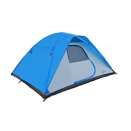 4011821 Alpine Mountain Gear 4 Person Tent - Blue by Alpine Mountain Gear