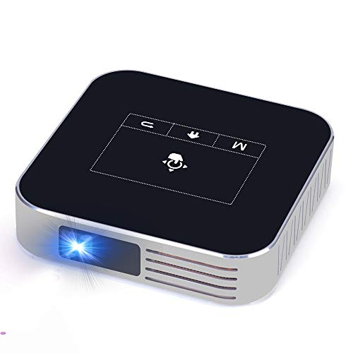 """Projector Portable DLP 2500 Lumens 1080P Supported Video Projector 200"""" Home Theater Outdoors Gaming Mini Projectors Bluetooth WiFi HDMI USB SD Built-in Stereo Speakers Screen Share"""