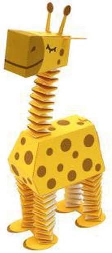 ELVVT 15センチメートルキリン3Dペーパーモデル動物のおもちゃ親子DIYマニュアル幼稚園子供の折り紙モデルジグソーパズルギフト