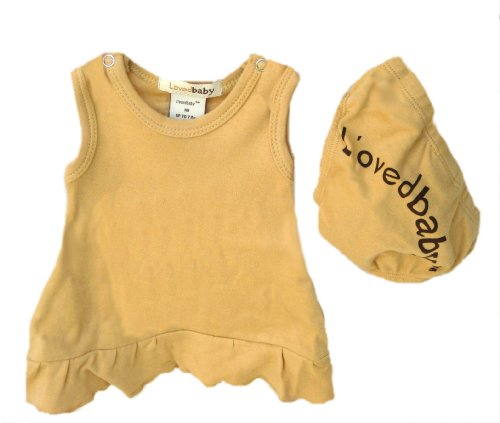 L'ovedbaby Baby Doll Dress, Caramel 9-12 -