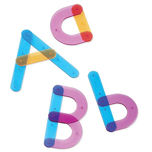 Learning Resources Letter Construction, School Activity Set, Play School, 60