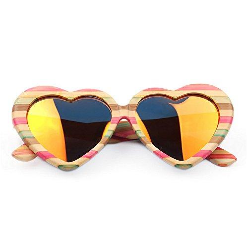 las ligero de de Ultra a las del madera de hicieron gafas corazón alta de mano Protección de rosado lindo color de polarizadas calidad sol las gafas del Las conduc ULTRAVIOLETA que mujeres mujeres sol qd8Zrw6d