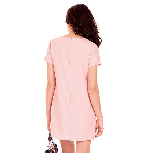 Bolsillos Hortensia Plaston Vestido Rosa Minueto ZEq5nn