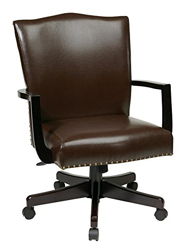 INSPIRED by Bassett Morgan Managers Chair - Espresso