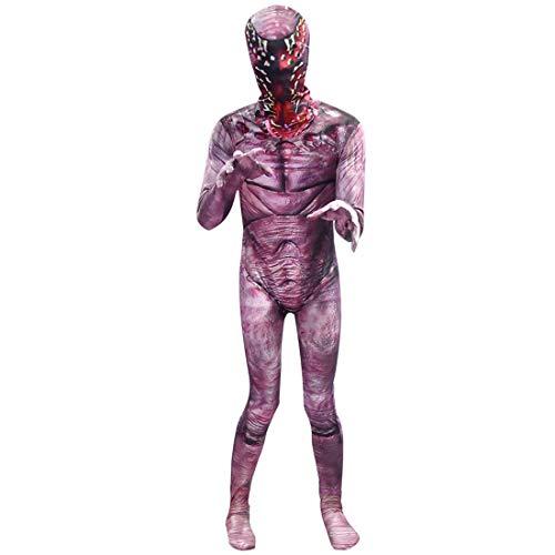 Unisex Adults&Kids Demogorgon Halloween Cosplay Party Costume Bodysuit Costume Jumpsuit Full Set with Mask