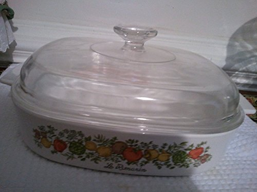 Vintage Corning Ware Spice of Life Le Romarin 2.5 Liter Casserole Dish with Lid