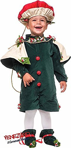 Italian Made Deluxe Baby & Toddler Boys Mushroom Toadstool King Nature Carnival Halloween Book Day Week Fancy Dress Costume Outfit 1-3 Years (3 -