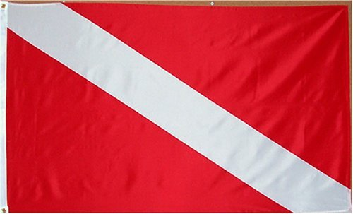 (Diver Flag - 3 foot by 5 foot Polyester (NEW) by Other Flags)