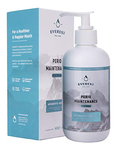'Everest' Perio Maintenance Oral Rinse Concentrated Mouthwash | 0.63% Stannous Fluoride | 10 oz Oral Care Mouth Wash with Easy Pump Dispenser – Mint