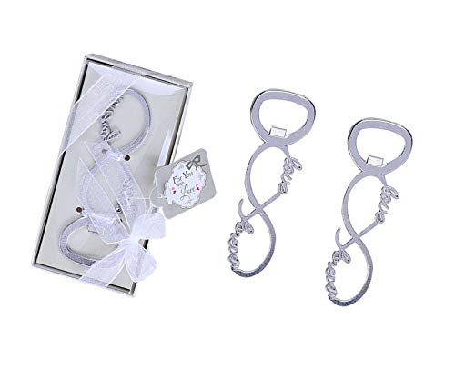 Yansanido 12pcs Love Bottle Openers Baby Shower Return Gifts Wedding Favors for Guests Party Favors (12pcs Love silver)