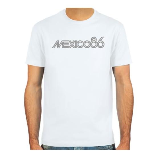 SpielRaum T-Shirt Mexico 86 ::: Couleur: Blanc, Rouge foncé, Noir, Vert Olive ou Bleu Marine ::: Tailles: S-XXL (Football)