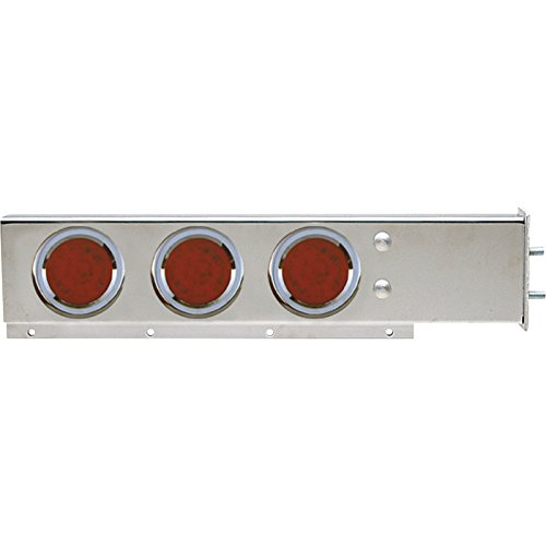 TRUX Accessories Flat Top Mud Flap Hanger Light Bars with Red LEDs — Pair, Model# TU-9210L (Led Mud Flap)