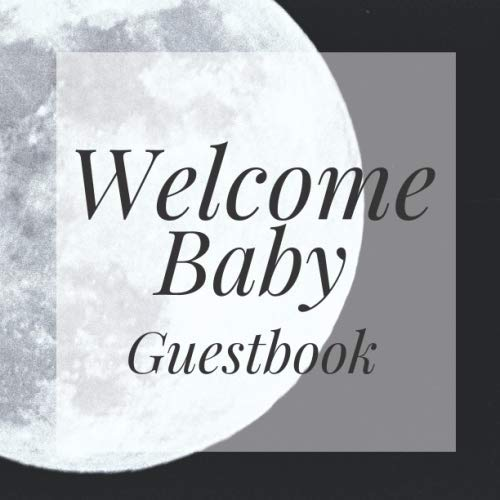 Welcome Baby Guestbook: Full Moon Halloween Theme Night