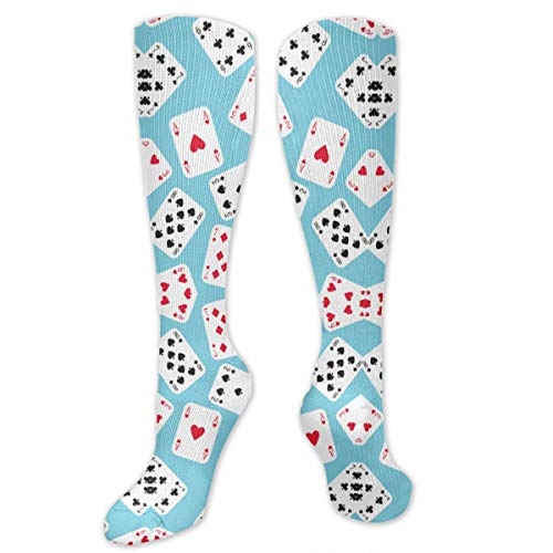 Oswz in Wonderland Playing Cards Graduated Compression Socks for Men & Women Best Stockings for Nurses, Travel, Running, Maternity Pregnancy]()