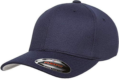 Flexfit Cool Dry Pique Mesh Hat | Stretch Fit, Curved Visor, OSFA (Pique Stretch Cap)