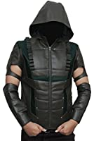 Arrow Hoodie Leather Costume Jackets - Available in 3 Designs