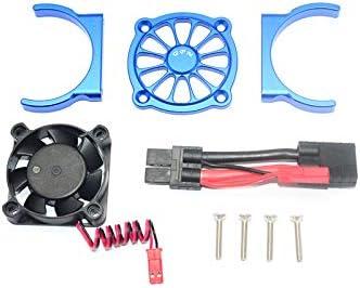 GPM TRAXXAS-1//10 E-REVO 2.0 VXL 86086-4 Aluminum Motor HEATSINK with Cooling Fan Blue 9PC Set