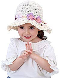 8b47b052 Toddler Kids Baby Girl Breathable Sun Hat Cotton Foldable 50+ SPF Protective
