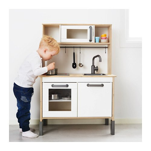 IKEA Miniküche DUKTIG Mitwachsende Spielküche Aus Holz   Ab Drei Jahren    72x40x109 Cm: Amazon.de: Spielzeug