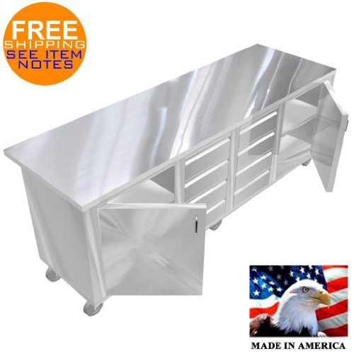 Drawer Work Table (STAINLESS STEEL ISLAND PREPARATION TABLE TOP 30