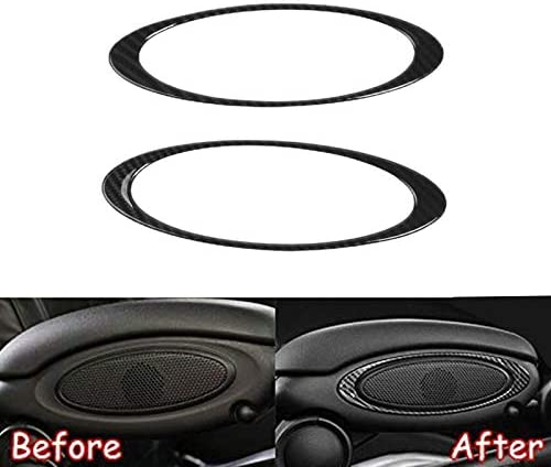 Domilay 2Pcs Seat Armrest Box Cover Sticker Interior Mouldings Case for Mini Cooper S One JCW F56 Hatchback Car Accessories