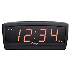 Equity by La Crosse 30902  .9 Inch LED Truckers Adjustable Volume Alarm Clock with 12v plug-in adapter