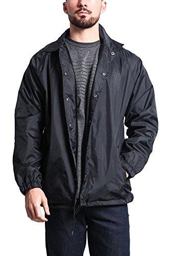 Men's Waterproof Windbreaker Coach Jacket WV6001 - Black - - Style Usa G