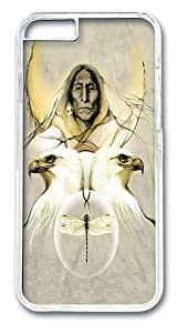 iPhone 6 Case Cover, Fertility Glyph Native American Scratch-Resistant Crystal Clear Plastic Hardshell Case Bumper Back Cover for iPhone 6 4.7 Inch