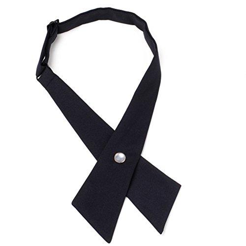 School Uniform Tie Cravat/Academy Wind Cross Bow-Black