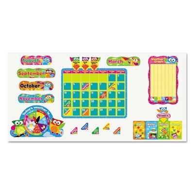 Trend Enterprises T8363 Owl-Stars! Calendar Bulletin Board Set, 17 1/2 x 23 1/4, 100 Pieces
