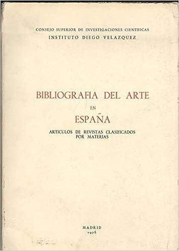 Bibliografia del arte en España. t.1. : articulos de revistas...: Amazon.es: Aguilé María Paz: Libros