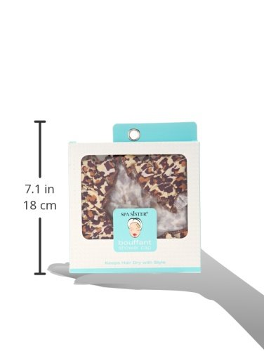 Bath Accessories Bouffant Shower Cap, Leopard Print