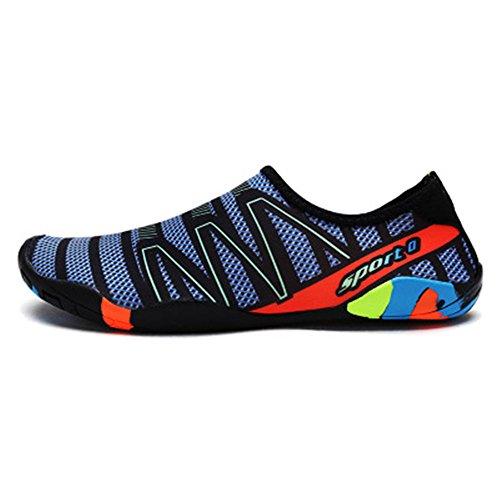 sic Barefoot Water Sports Skin Shoes Aqua Socks for Beach Swim Surf(Blue2,35/4 B(M) US Women/3 D(M) US Men) ()