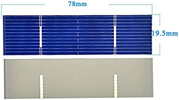 AOSHIKE 50pcs 0 5V 0 5A 78x19mm/3x0 75inches Solar Cells For