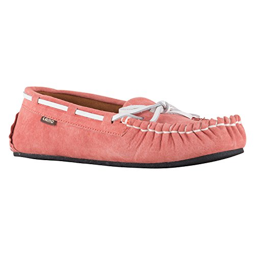 Lamo Women's Sabrina Moc II Shoe, Moccasin, Salmon, 10 M US (Classic Slip Moc)