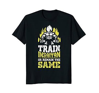 Train Insaiyan Remain The Same Workout Anime Gym T-Shirt Tee