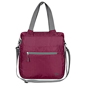 Travelon Women's Packable Crossbody Travel Tote, Wineberry, One Size