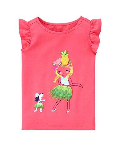 Gymboree Baby Toddler Girls' Hula Graphic, Peppy Orange Glow, 3T