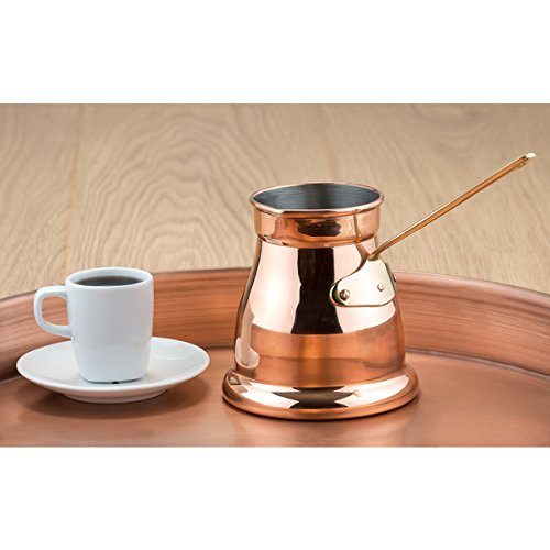 Popcorn Butter Server (OS Turkish Coffee Pot, Butter Warmer with Handle, Copper Coffee Maker, Turkish Coffee Pot Copper Stovetop, Greek Coffee Maker, Arabic Coffee Pot, Crab Butter Warmer, Popcorn Butter Melter)